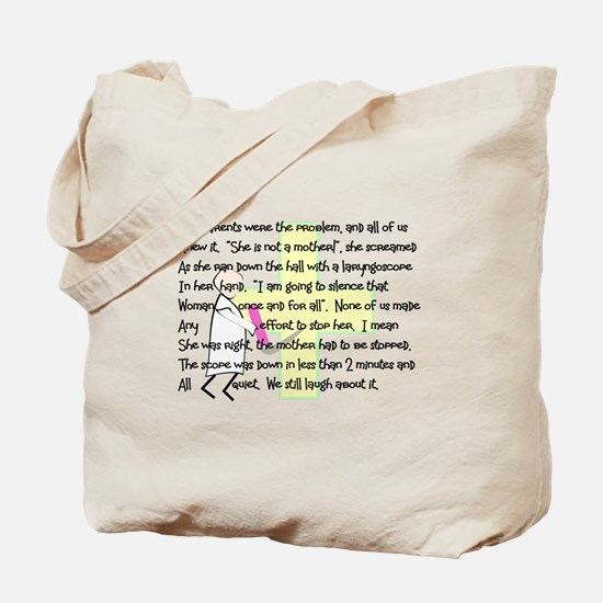 """Intubate The Parents"" Tote Bag"
