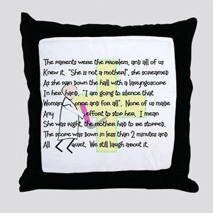 """Intubate The Parents"" Throw Pillow"