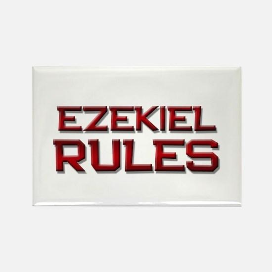 ezekiel rules Rectangle Magnet