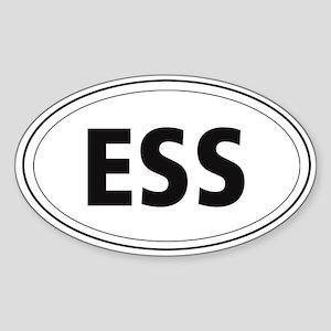 English Springer Spaniel Oval Sticker