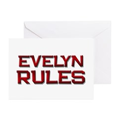 evelyn rules Greeting Cards (Pk of 10)