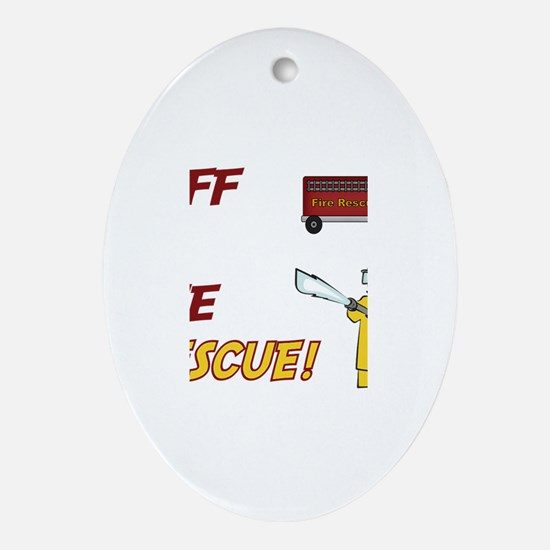 Jeff to the Rescue Oval Ornament
