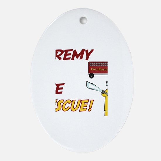Jeremy to the Rescue Oval Ornament