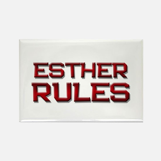 esther rules Rectangle Magnet