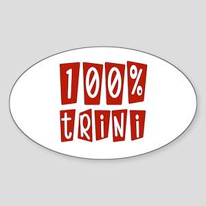 100% Trini Oval Sticker