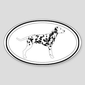 Dalmatian Profile Oval Sticker