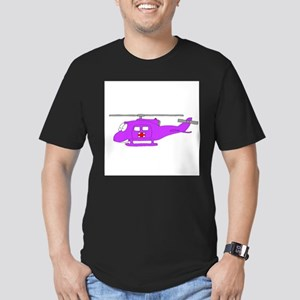 Helicopter UH-1 Purple T-Shirt