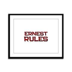 ernest rules Framed Panel Print