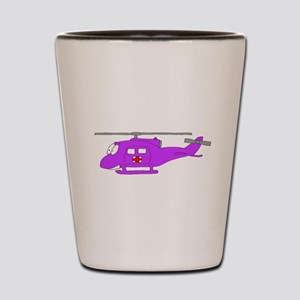 Helicopter UH-1 Purple Shot Glass