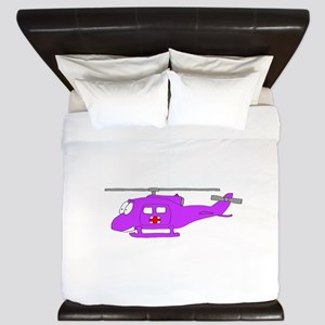 Helicopter UH-1 Purple King Duvet