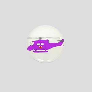 Helicopter UH-1 Purple Mini Button