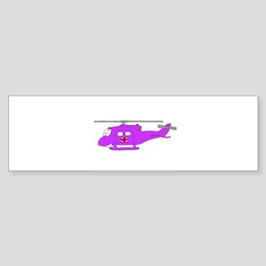 Helicopter UH-1 Purple Bumper Sticker