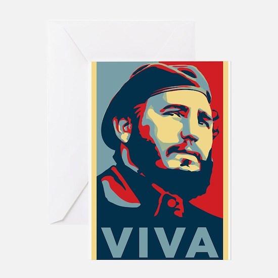 Viva_Fidel Greeting Cards