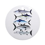 South Pacific Speedy Fishes Round Ornament