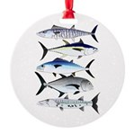 South Pacific Speedy Fishes Ornament
