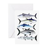 South Pacific Speedy Fishes Greeting Cards
