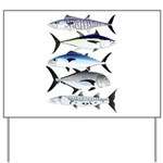 South Pacific Speedy Fishes Yard Sign