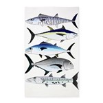 South Pacific Speedy Fishes Area Rug