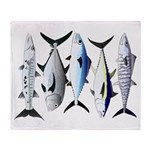 South Pacific Speedy Fishes Throw Blanket