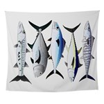 South Pacific Speedy Fishes Wall Tapestry