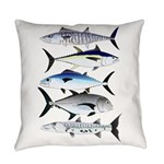 South Pacific Speedy Fishes Everyday Pillow