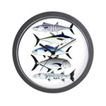 South Pacific Speedy Fishes Wall Clock