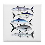 South Pacific Speedy Fishes Tile Coaster