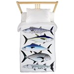 South Pacific Speedy Fishes Twin Duvet Cover
