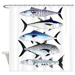 South Pacific Speedy Fishes Shower Curtain