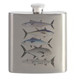 South Pacific Speedy Fishes Flask