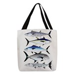 South Pacific Speedy Fishes Polyester Tote Bag