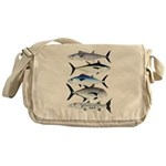 South Pacific Speedy Fishes Messenger Bag