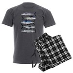 South Pacific Speedy Fishes Men's Charcoal Pajamas