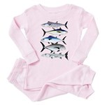 South Pacific Speedy Fishes Toddler Pink Pajamas