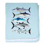 South Pacific Speedy Fishes baby blanket
