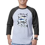 South Pacific Speedy Fishes Mens Baseball Tee