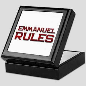 emmanuel rules Keepsake Box