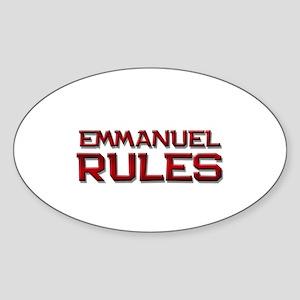 emmanuel rules Oval Sticker