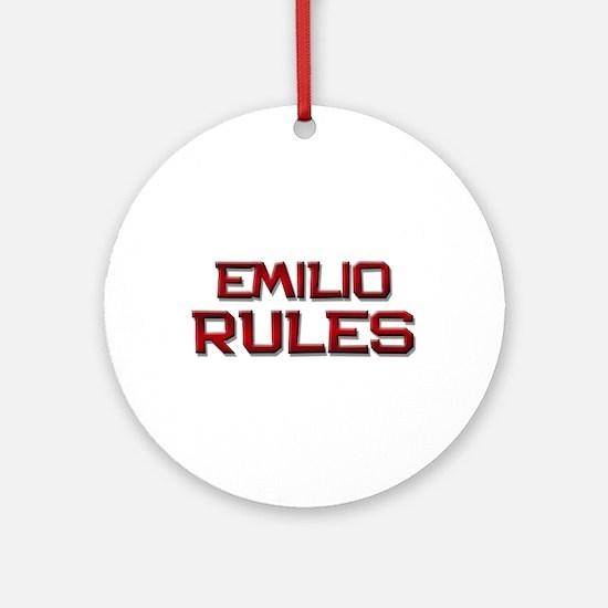emilio rules Ornament (Round)