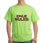 emilie rules Green T-Shirt
