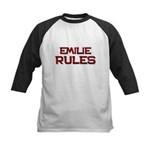 emilie rules Kids Baseball Jersey