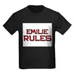 emilie rules Kids Dark T-Shirt