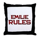 emilie rules Throw Pillow