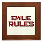 emilie rules Framed Tile