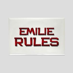 emilie rules Rectangle Magnet