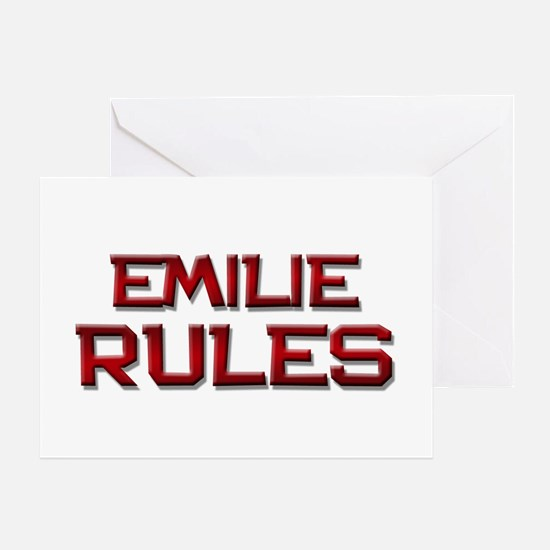 emilie rules Greeting Card