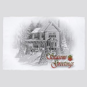 Seasons Greetings House Christmas 4' X 6'
