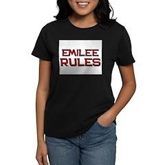 emilee rules Women's Dark T-Shirt