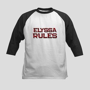 elyssa rules Kids Baseball Jersey