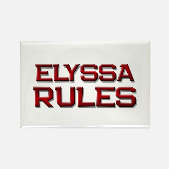elyssa rules Rectangle Magnet